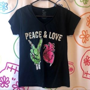 "Freeze ""Peace and Love"" Zombie T-Shirt"